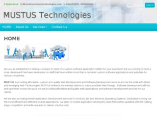 mustustechnologies.com screenshot