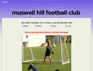muswellfc.webs.com screenshot