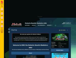 mutantsgeneticgladiators.wikia.com screenshot