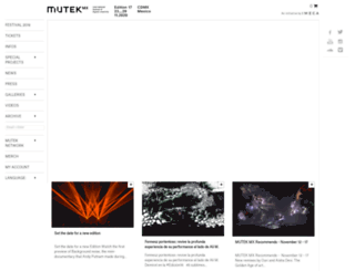 mutek.mx screenshot