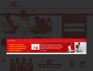 muthnet.co.in screenshot