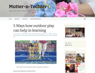 mutterntochter.wordpress.com screenshot