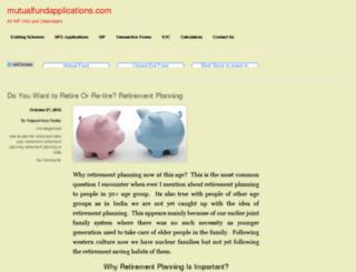mutualfundapplications.com screenshot