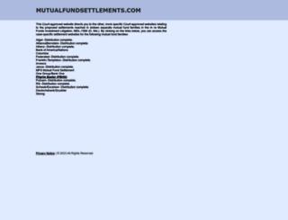 mutualfundsettlements.com screenshot