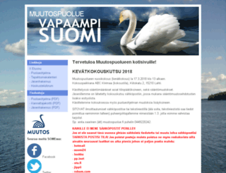 muutos2011.fi screenshot