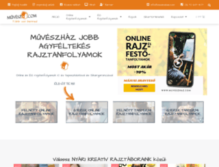 muveszhaz.com screenshot