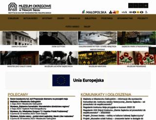 muzeum.sacz.pl screenshot