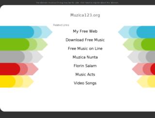 muzica123.org screenshot