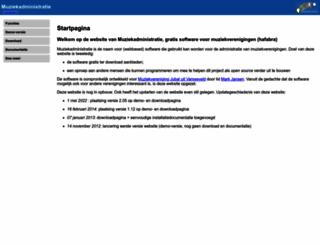 muziekadministratie.nl screenshot