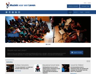 muziekvooreenleven.nl screenshot