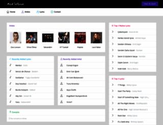 muzikdefterim.com screenshot
