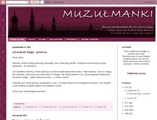 muzulmanki.blogspot.com screenshot