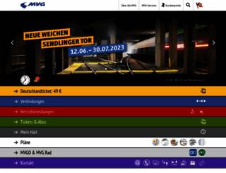 mvg.de screenshot