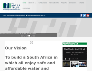 mvula.org.za screenshot