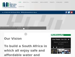mvula.org.za screenshot