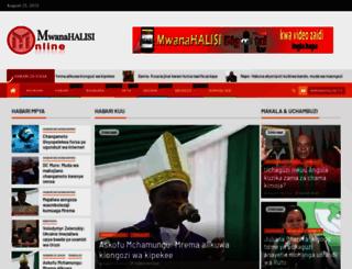 mwanahalisionline.com screenshot