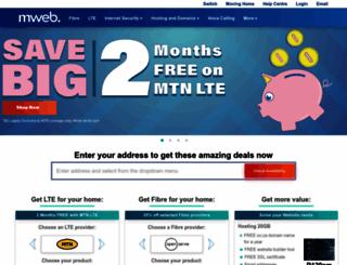 mweb.com screenshot