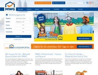 mwg-wohnen.de screenshot