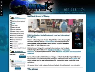 mwschoolofdiving.com screenshot