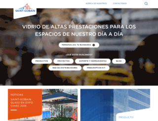mx.saint-gobain-glass.com screenshot