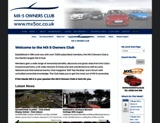 mx5oc.co.uk screenshot