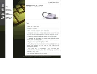 mxbsupport.com screenshot