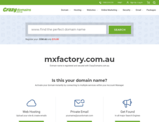 mxfactory.com.au screenshot