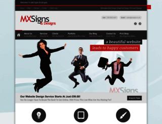 mxsigns.co.uk screenshot