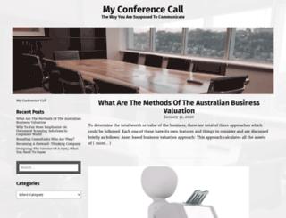 my-conference-call.com screenshot