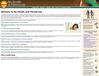 my-health-and-fitness.org screenshot