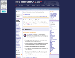 my-maemo.com screenshot