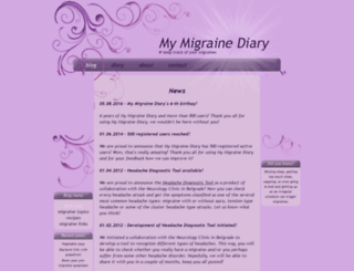 my-migraine-diary.com screenshot