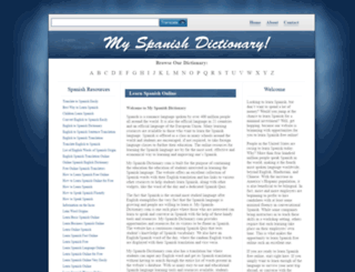 my-spanish-dictionary.com screenshot