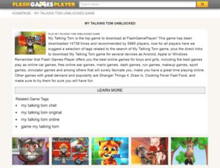 my-talking-tom.flashgamesplayer.com screenshot