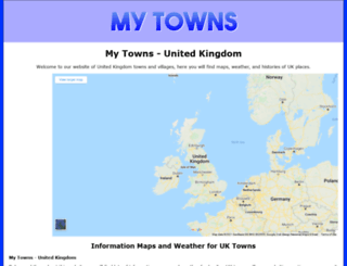 my-towns.co.uk screenshot