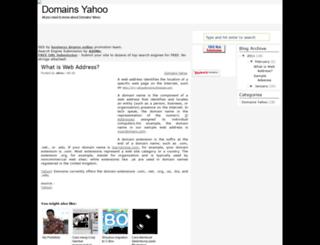 my-yahoodomains.blogspot.com screenshot