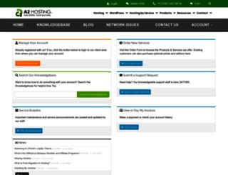 my.a2hosting.com screenshot
