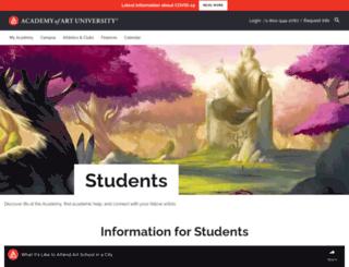 my.academyart.edu screenshot