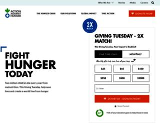 my.actionagainsthunger.org screenshot