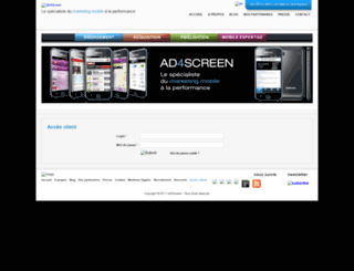 my.ad4screen.com screenshot