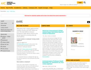 my.aic.edu screenshot