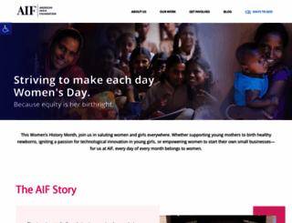 my.aif.org screenshot