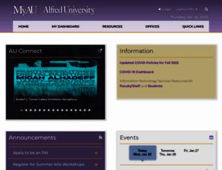 my.alfred.edu screenshot