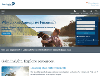 my.ameriprise.com screenshot
