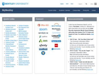 my.bentley.edu screenshot