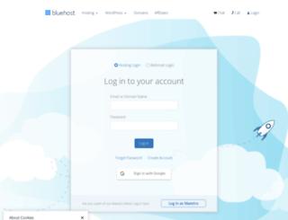 my.bluehost.com screenshot