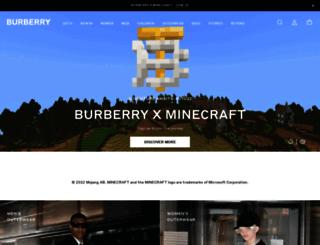 my.burberry.com screenshot