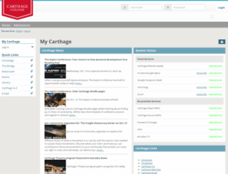my.carthage.edu screenshot