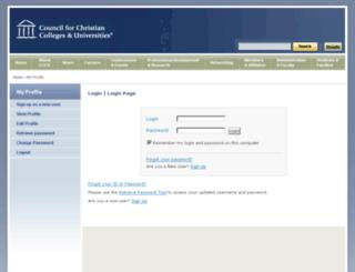 my.cccu.org screenshot