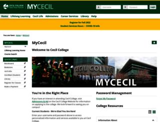 my.cecil.edu screenshot